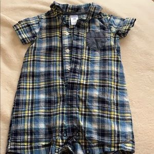 Carters 18 mo half button up onesie